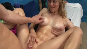 Young babe Alli Rae rough massage