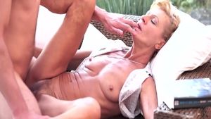 Classy hairy blonde Leigh Darby erotic ass fucked