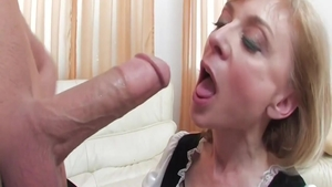 Super sexy blonde hair Nina Hartley goes for hard ramming
