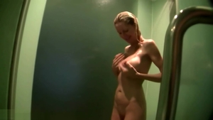 Tattooed MILF Emma Star POV playing with sex toys in shower HD