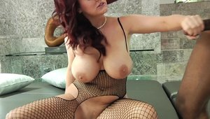 Hawt and big tits mature Sophie Dee rough doggy fucking