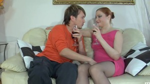 Hot redhead feels the need for rough nailing