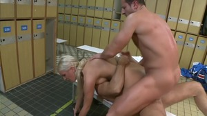 Skinny bald european blonde haired raw pussy fuck in HD