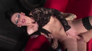 Hottest brunette Lulu Martinez helps with hard nailining