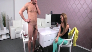 Ben English fucks passionate MILF Gina Devine at castings