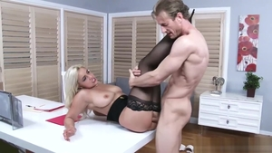 American stepmom Kylie Page in high heels nailed rough