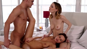 Sex in the company of nice blonde haired