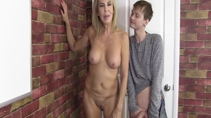 Mature Erica Lauren getting a facial