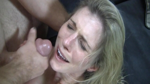 Facial along with busty bitch Cory Chase