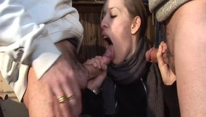 Hard nailed rough in the company of young french amateur