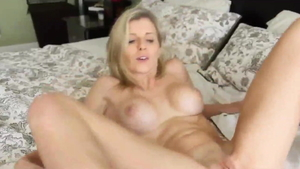 Tight stepmom Cory Chase gets a buzz out of sucking cock HD