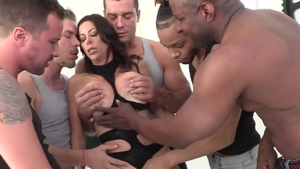 Big tits stepmom Alexis Fawx raw group sex