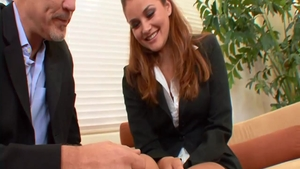 Hard slamming in company with young pornstar Allie Haze