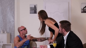 Group sex together with Tina Kay in the company of Mike Angelo