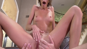 Tight Emma Hix pussy eating
