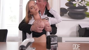 Suzie Moss fucked all the way in office
