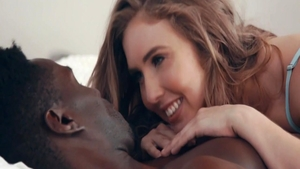 Interracial pounding video with busty romantic Lena Paul