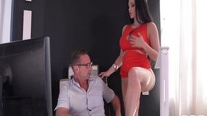 Erotic Aletta Ocean together with David Perry seduced