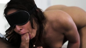 Brunette raw tied up