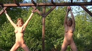 Domination bondage along with very sexy blonde haired