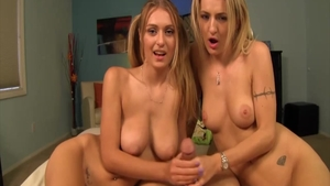 Natasha Starr together with blonde Natalia Starr threesome