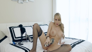 Naked Katie Banks masturbating toys