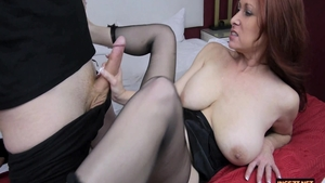 Busty and chubby mature Tiffany Mynx blowjob solo