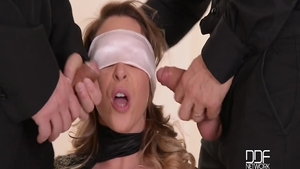 Big tits Victoria Summers gaping threesome