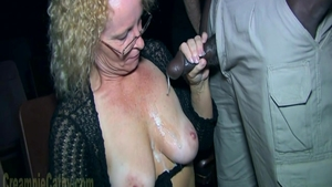 Sucking cock escorted by big tits hotwife