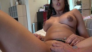 Beautiful Sophia Leone masturbating
