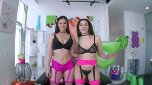 Real sex in company with bubble butt brunette Valentina Nappi