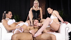 Group sex in the company of charming blonde haired