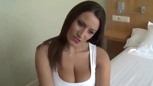 Big boobs german brunette really likes dick sucking in HD