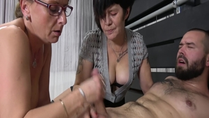 Young granny threesome