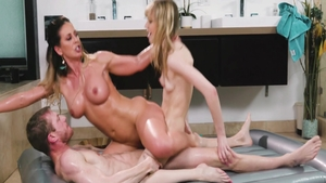 Nailed rough starring young ebony blonde Cherie Deville
