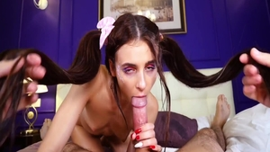 Young & horny brunette Kate Rich ass fucking in the shower