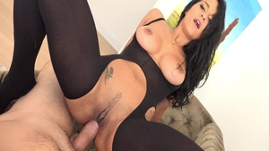 Hottest & busty Abby Lee Brazil getting facial
