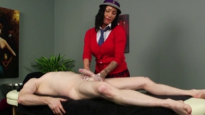Oiled real sex accompanied by star Chantelle Fox after school