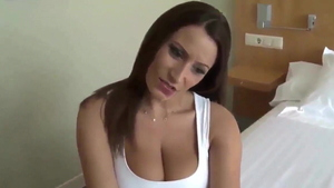 Big boobs german brunette digs cock sucking HD