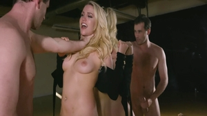 Mia Malkova together with James Deen seduce
