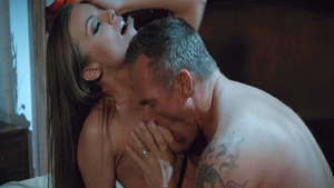 Large tits babe Britney Amber has a thing for hard nailining