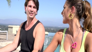 Big butt pornstar August Ames feels up to real sex