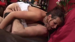 Big boobs brunette Tanya Cox goes in for real fucking HD