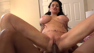 Cumshot scene with large tits rough Rita Daniels