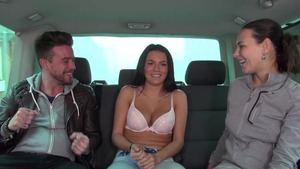 Teen Mea Melone group sex in car