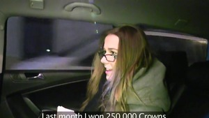 Mature Alexis Crystal threesome in a car