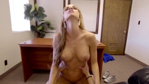 Blonde haired Ashley Sinclair raw cumshot