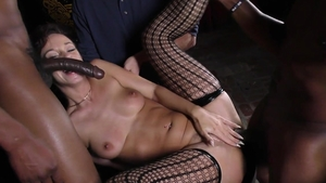 Jada Stevens in her lingerie fetish threesome