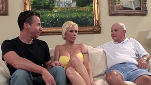 Gangbang escorted by charming MILF