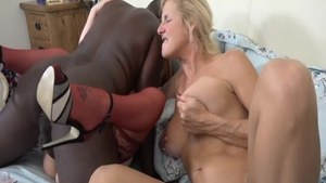 Busty blonde babe british Molly Maracas interracial fuck